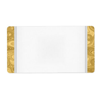 Party Name Tag Label gold White