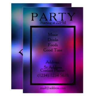 Party night cool smooth club style card