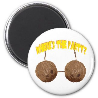 party nuts 2 inch round magnet