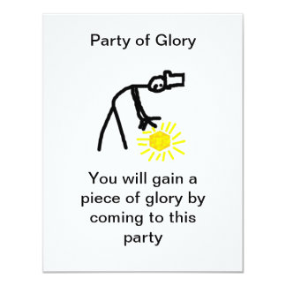 Party of Glory 4.25x5.5 Paper Invitation Card