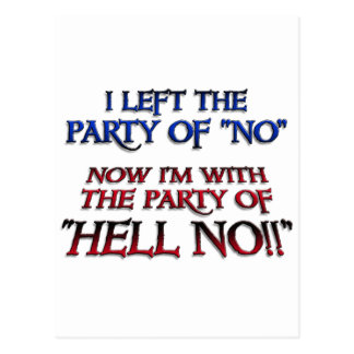 Party of Hell NO Postcard