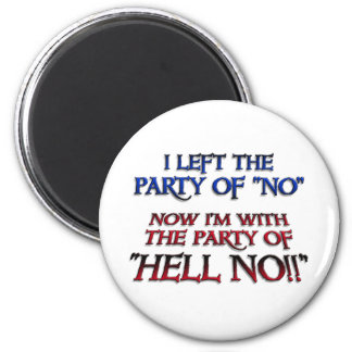 Party of Hell NO Refrigerator Magnets