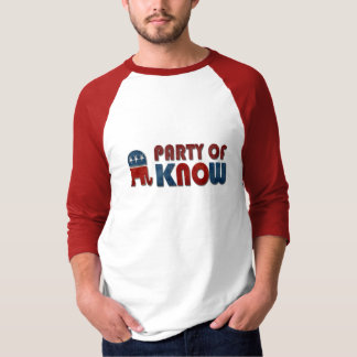Party of Know Funny GOP Tee Shirt