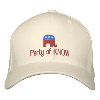 Party of Know Funny Political Republican Embroidered Baseball Cap