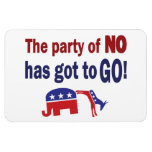 Party of No Rectangle Magnets