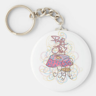 Party of One Basic Round Button Keychain