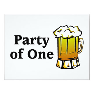 Party Of One Beer Personalized Announcement