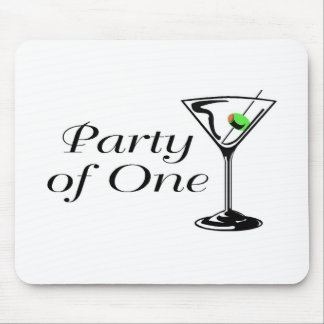 Party Of One Martini Mouse Pad