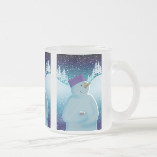 Party On! 10 Oz Frosted Glass Coffee Mug