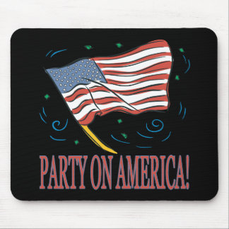 Party On America Mouse Pad