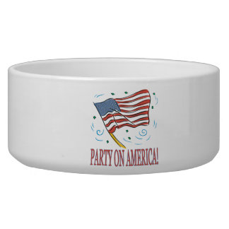 Party On America Dog Water Bowls