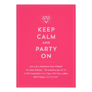 Party On Bachelorette Party Invitation