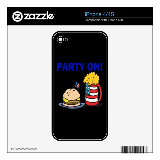 Party On Decals For The iPhone 4S