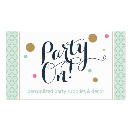 Party On Designs Business Card