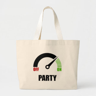 Party On Large Tote Bag