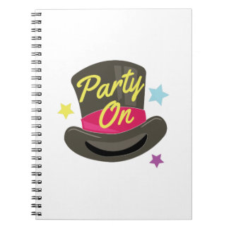 Party On Spiral Note Books