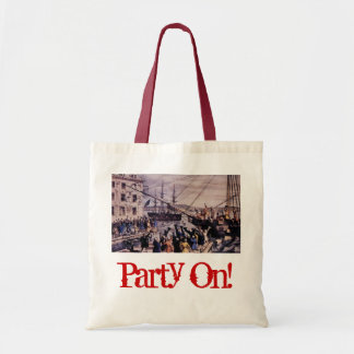 Party On! Tea Party tote bag.