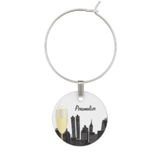 Party on the Town Wine Charm