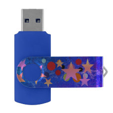 party on USB Swivel Flash Drive
