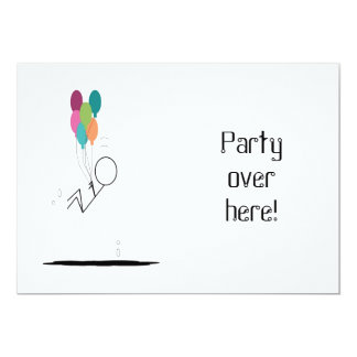 Party over here! invitations