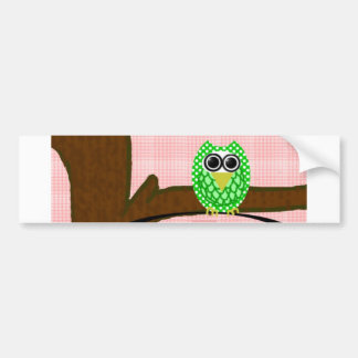 Party Owl Bumper Stickers
