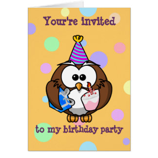party owl greeting card