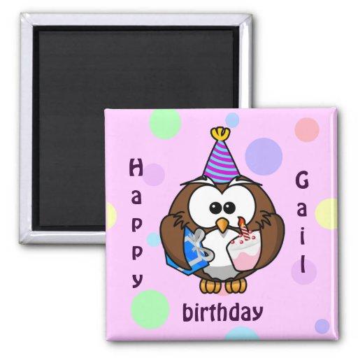 party owl fridge magnet