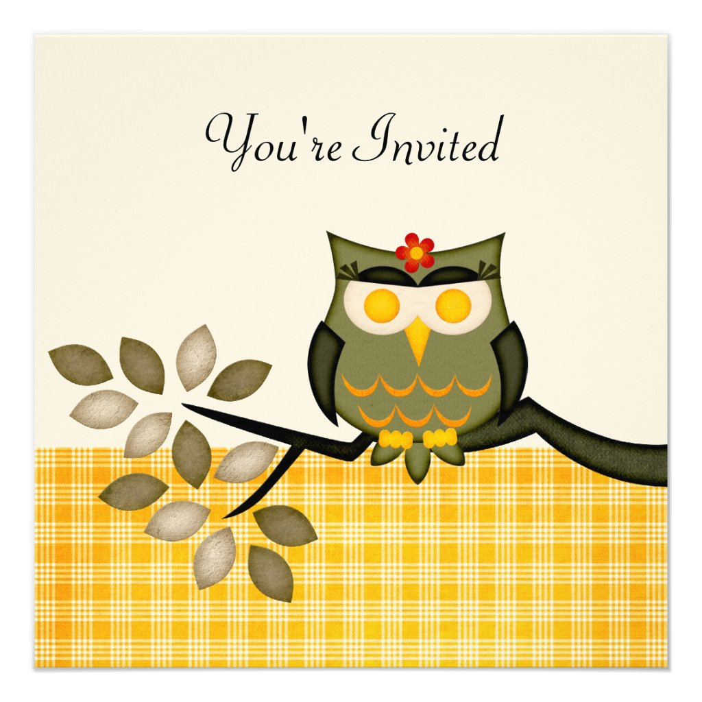 Party Owl Invitation for any occasion