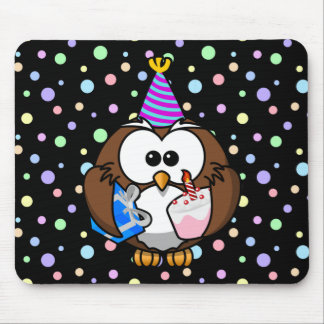 party owl mouse pad