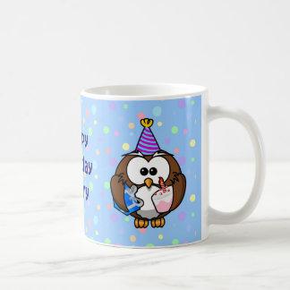 party owl classic white coffee mug