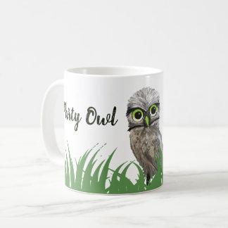 Party Owl The Time Burrowing Owl Art Coffee Mug