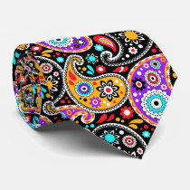 Party Paisley Fancy Texas Country Western Hoedown Neck Tie