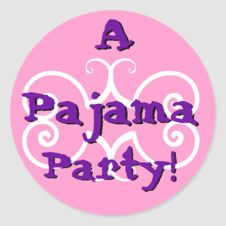 PARTY - Pajama Party with Festive Circles Sticker