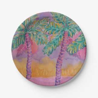 Party Palms Paper Plates 7 Inch Paper Plate