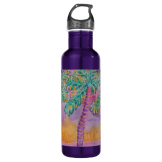 Party Palms Stainless Steel Water Bottle