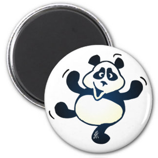 Party Panda 2 Inch Round Magnet