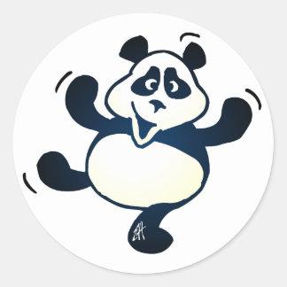 Party Panda Classic Round Sticker