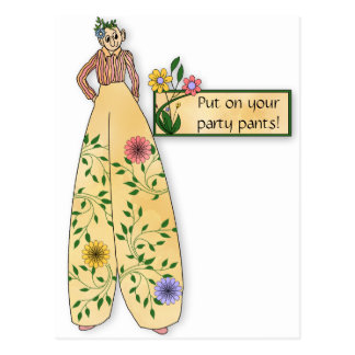 Party Pants Invitation Postcard