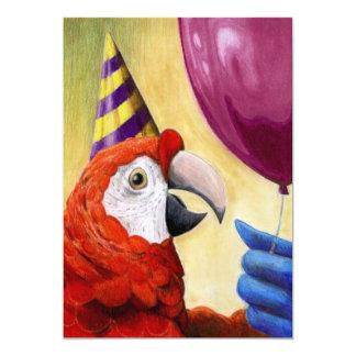 "Party Parrot Invitation 5"" X 7"" Invitation Card"