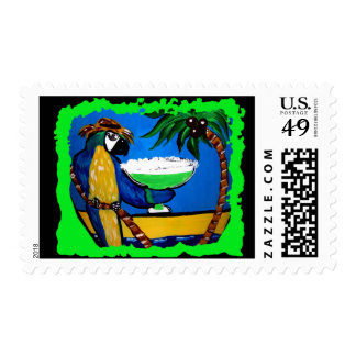 Party Parrot Postage Stamp
