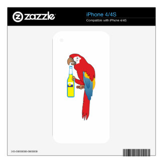 PARTY PARROT DECALS FOR iPhone 4