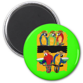 PARTY PARROTS 2 INCH ROUND MAGNET