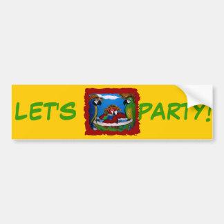 Party Parrots Bumper Sticker