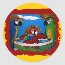 Party Parrot's Cheers Classic Round Sticker