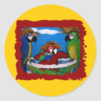 Party Parrots Classic Round Sticker