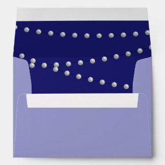 Party Pearls on Indigo Envelope