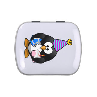 Party Penguin Cute Cartoon Jelly Belly Tin