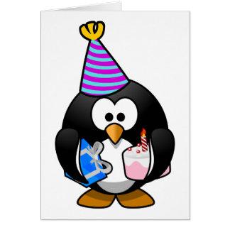 Party Penguin Cute Cartoon Card