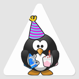 Party Penguin Triangle Sticker