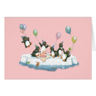Party Penguins Card (Customizable)